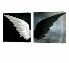 Stretched Framed Canvas Painting For Rooms Modern Angel Wings Waterproof Posters