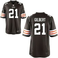 💯% Geniune Justin Gilbert Cleveland Browns Historic Nike Game Jersey - Brown