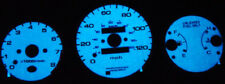 96~00 Honda Civic Mt With Tach Blue / Green Glow Gauge Face Overlay New