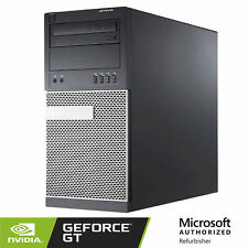 Dell Gaming Computer PC Nvidia GT 1030 HDMI WiFi 8GB RAM 500GB Q CORE i5 WIN 10