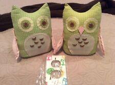 Pottery Barn Brooke/Hayley Girls Nursery Bookends Owls