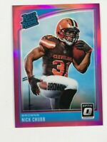 🔥2018 Donruss Optic Rated Rookies Pink Nick Chubb #158 Rookie Card RC🔥