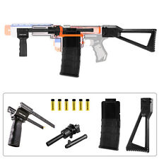 Worker MOD Combo Pump Kit 50pcs Short Dart Mag Stock Black for Nerf RETALIATOR