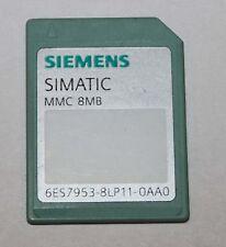 SIEMENS SIMATIC S7-300 MMC 8MB MEMORY CARD 6ES7 953-8LP11-0AA0 XLNT