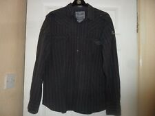 Mens Two Stoned Muscle Fit  Casual Shirt Size L