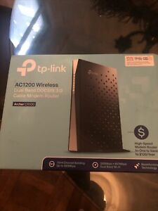 TP-Link AC1200 Wireless Dual Band DOCSIS 3.0 Cable Modem Router - Black NIB