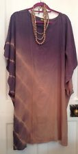 Hyena Thailand Hand Dyed OSFA Purple-Grey & Pink Dress & Silk Beads NEW