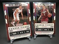 Stephen Curry/ Klay 2020-21 Panini Contenders Draft CAMPUS TICKET WARRIORS Lot 4