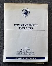 1990 SETON HALL UNIVERSITY COMMENCEMENT PROGRAM 1940 Alumni S ORANGE NEW JERSEY