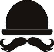 Sombrero Y Moustach Sticker Etiqueta de vinilo gráfico Etiqueta posterior V2