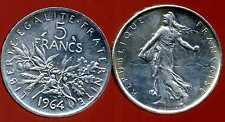 5 francs 1964 SEMEUSE  ARGENT   ( bis )