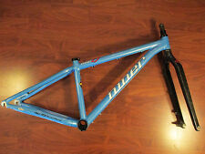 NINER ONE 9 ATOMIC BLUE EASTON GX2 SCANDIUM SMALL MTB FRAME  15.5 CARBON FORK