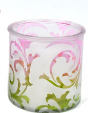 Coloured Glass Candle Holder - A