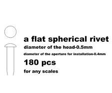 RESIN FLAT SPHERICAL RIVET .5mm, 180pcs for TAMIYA AOSHIMA DOYUSHA REVELL FUJIMI