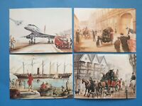 Bristol Head Post Office set of 4 Cards Mail Carriers Built in Bristol from 1830