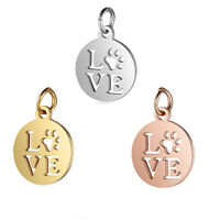 5pcs Jewelry DIY Accessories Stainless Steel Hollow Love Dangle Pendant Charms