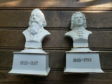 2 Musical Composer Bust Music Boxes by The San Francisco Music Box Co. L Working