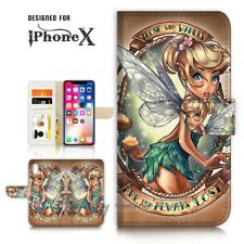 ( For iPhone X ) Wallet Case Cover P21066 TinkerBell