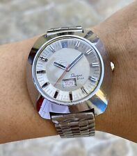Vintage Enicar Sherpa Star Automatic Watch SERVICED 38mm All Steel