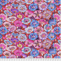 Variegated Morning Glory RED Philip Jacobs/ Kaffe Fassett cotton Qlt Fabric BTY