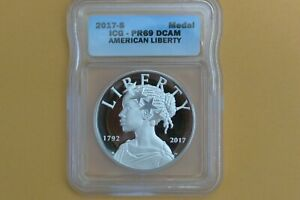 2017-S  American Liberty 225th 1oz Silver Proof Medal ICG PR69 DCAM