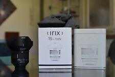 Objectif grand angle Irix 15mm f2.4 monture Nikon firefly