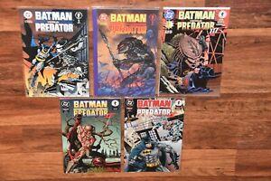 Lot 5 DC Dark Horse Comic Book BATMAN versus vs PREDATOR 1990s II III HIGH GRADE
