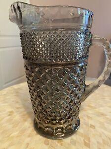 vintage diamond glass pitcher