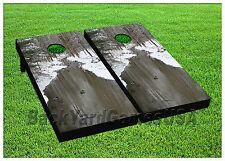 Cornhole Beanbag Toss Game w Bags Game Boards Ducks Winter River Snow Set 1221
