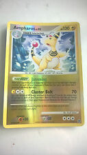 **Reverse Holo POKEMON Nintendo Playing Game Card 2007 1/132 Character AMPHAROS