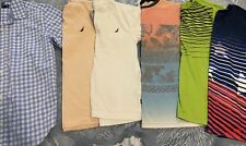 Lot Of 6 Pair Of Boy's Short Sleeve Shirts Lot Size 10-12