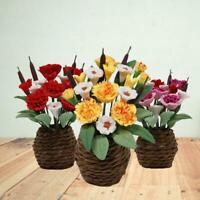 6 Styles 1:12 Green Plant+Pot Dolls House Miniature Bush Acce Flower Garden F4S7