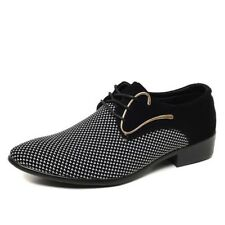 Mens Shoes Dress Pointed Toe Men Oxfords Wedding Business White Blue Men's Shoe