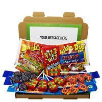 UK Candy Gift Box - Personalised Lockdown Sweet Mix Hamper Birthday Kids Mum Dad