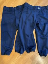 New listing Mizuno Adult Women'S Belted Low Rise Fastpitch Softball Pant Large Navy Blue