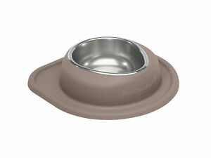 Single Low Pet Feeding System by WeatherTech for Dog/ Cat in Light Brown