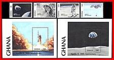 Ghana 1989 Usa in Space/Astronomy = Apollo 11 x2 S/S (blocks) + Set Mnh Cv$13