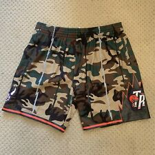 Toronto Raptors Woodland Camo Mitchell & Ness Authentic 1998-99 Shorts Size 2XL