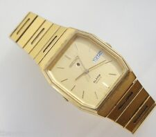 Seiko Men's 5C23-5009 Alarm Gold Tone Stainless Steel Watch Day Date