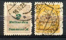 Reich 326 - 327 B gebruikt; infla geprüft
