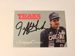 Jeff Gordon 1992 Traks Autograph RARE Possible PSA 10! Low Pop. Nascar HOF! A7