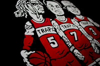 Black red Atlanta From the Trap game to Rap fame shirt for air jordan bred 11 xi