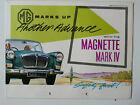 Prospekt brochure MG Magnette Mark IV, 8.1960, 12 Seiten, folder, english