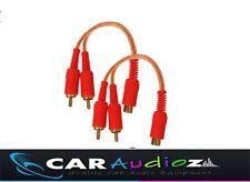 RCA a rca divisor OFC Coche Y Casa Phono Y Alerones 2 Macho 1 Hembra Cable