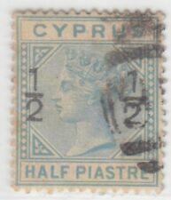 CYPRUS 1882 ISSUE ½ PIASTRE USED SG.23 = SCOTT 16  RR