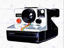 Photo peinture style rétro appareil polaroid cool art print poster HP1856