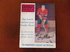 Vintage Jean Beliveau Signed Sport Revue Magazine October 1962 Hockey