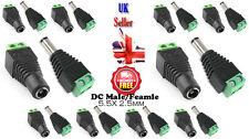 10x12V DC Male/Female Power Connector Adapter Plug Jack Socket 5.5x2.5mm