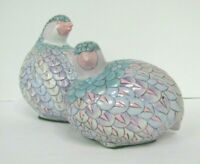 Vintage Quail Partridge Ceramic Pottery Figures Set of 2 male and female toyo