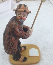 Emmett Kelly Jr. Clown with Broom Porcelain Figure with Original Box 1991 Le